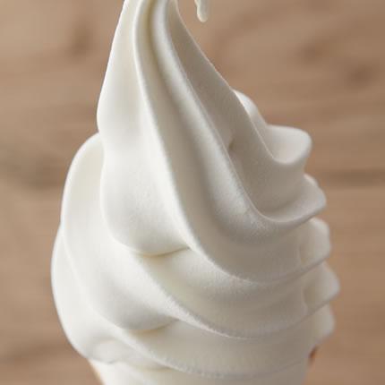 生乳仕込みのソフトクリーム