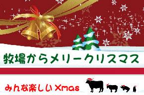 牧場からメリークリスマス!
