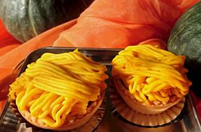 かぼちゃモンブラン作り