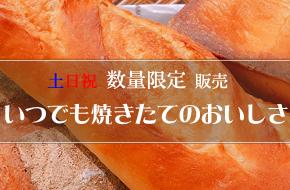 新焼き立てパン販売開始!